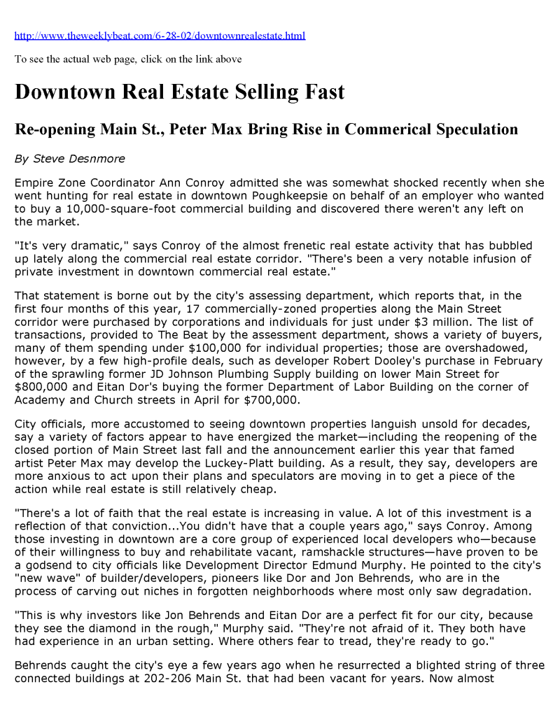 Downtown Real Estate Selling Fast_Page_1